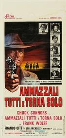 Ammazzali tutti e torna solo - Italian Movie Poster (xs thumbnail)