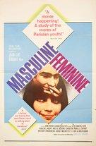 Masculin, féminin: 15 faits précis - Movie Poster (xs thumbnail)