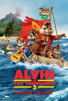 Alvin and the Chipmunks: Chipwrecked - British Theatrical poster (xs thumbnail)
