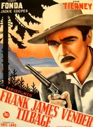 The Return of Frank James - Danish Movie Poster (xs thumbnail)