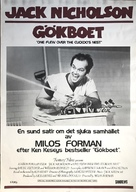 One Flew Over the Cuckoo's Nest - Swedish Movie Poster (xs thumbnail)