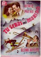 Sun Valley Serenade - Spanish Movie Poster (xs thumbnail)