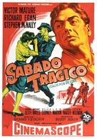 Violent Saturday - Spanish Movie Poster (xs thumbnail)