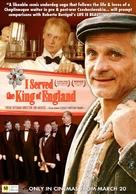 Obsluhoval jsem anglickèho krále - Australian Movie Poster (xs thumbnail)
