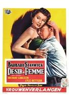All I Desire - Belgian Movie Poster (xs thumbnail)