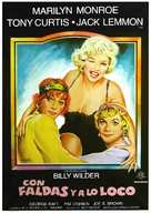 Some Like It Hot - Spanish Movie Poster (xs thumbnail)