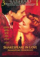 Shakespeare In Love - Spanish Movie Poster (xs thumbnail)