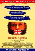 Hidden Agenda - Video release movie poster (xs thumbnail)