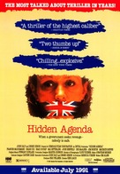 Hidden Agenda - Video release poster (xs thumbnail)