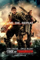 Live Die Repeat: Edge of Tomorrow - British Movie Poster (xs thumbnail)