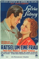 The Trail of the Lonesome Pine - German Movie Poster (xs thumbnail)
