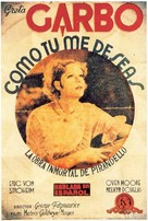 As You Desire Me - Spanish Movie Poster (xs thumbnail)
