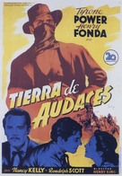 Jesse James - Spanish Movie Poster (xs thumbnail)