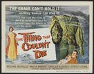 The Thing That Couldn't Die - British Movie Poster (xs thumbnail)