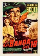 Ten Wanted Men - Italian Movie Poster (xs thumbnail)