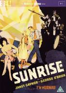 Sunrise: A Song of Two Humans - British DVD cover (xs thumbnail)