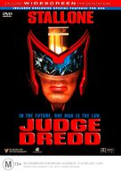 Judge Dredd - Australian DVD cover (xs thumbnail)