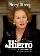 The Iron Lady - Spanish Movie Poster (xs thumbnail)