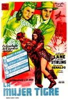 The Tiger Woman - Spanish Movie Poster (xs thumbnail)