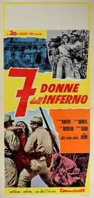 The Seven Women from Hell - Italian Movie Poster (xs thumbnail)
