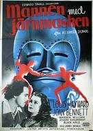 The Man in the Iron Mask - Swedish Movie Poster (xs thumbnail)