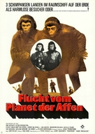 Escape from the Planet of the Apes - German Movie Poster (xs thumbnail)