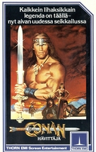 Conan The Destroyer - Finnish VHS movie cover (xs thumbnail)