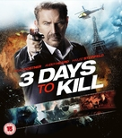 3 Days to Kill - British Blu-Ray movie cover (xs thumbnail)