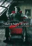 Sweeney Todd: The Demon Barber of Fleet Street - French DVD movie cover (xs thumbnail)