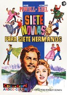 Seven Brides for Seven Brothers - Spanish Movie Poster (xs thumbnail)