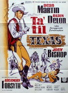 Texas Across the River - Danish Movie Poster (xs thumbnail)