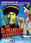 The Face of Fu Manchu - Danish Movie Poster (xs thumbnail)