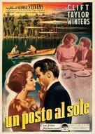 A Place in the Sun - Italian Movie Poster (xs thumbnail)