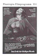 Blood from the Mummy's Tomb - German poster (xs thumbnail)