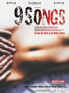 9 Songs - French Movie Poster (xs thumbnail)