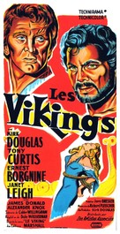 The Vikings - French Movie Poster (xs thumbnail)