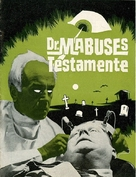 Das Testament des Dr. Mabuse - Danish Movie Poster (xs thumbnail)