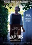 Aquarius - Italian Movie Poster (xs thumbnail)