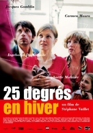 25 degrés en hiver - French Movie Poster (xs thumbnail)