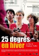 25 degrés en hiver - French Movie Poster (xs thumbnail)