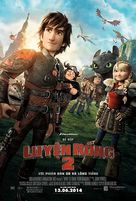 How to Train Your Dragon 2 - Vietnamese Movie Poster (xs thumbnail)