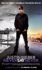 Justin Bieber: Never Say Never - Malaysian Movie Poster (xs thumbnail)