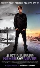 Justin Bieber: Never Say Never - Malaysian Movie Poster (xs thumbnail)