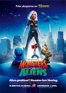 Monsters vs. Aliens - Swedish Movie Poster (xs thumbnail)