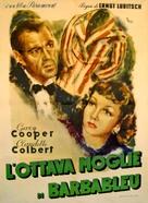 Bluebeard's Eighth Wife - Italian Movie Poster (xs thumbnail)