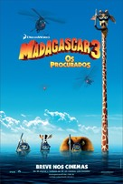 Madagascar 3: Europe's Most Wanted - Brazilian Movie Poster (xs thumbnail)
