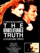 The Unbelievable Truth - French Movie Poster (xs thumbnail)