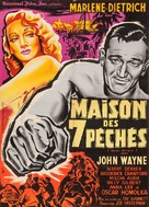 Seven Sinners - French Movie Poster (xs thumbnail)