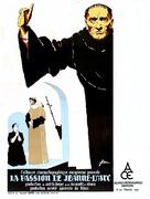 La passion de Jeanne d'Arc - French Movie Poster (xs thumbnail)