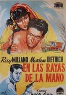 Golden Earrings - Spanish Movie Poster (xs thumbnail)